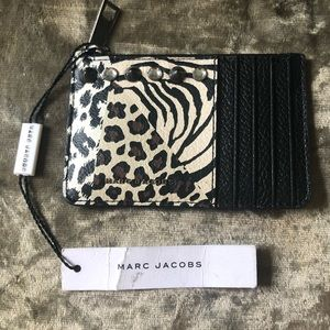 NWT MARC JACOBS Leather Animal Print Zip Wallet